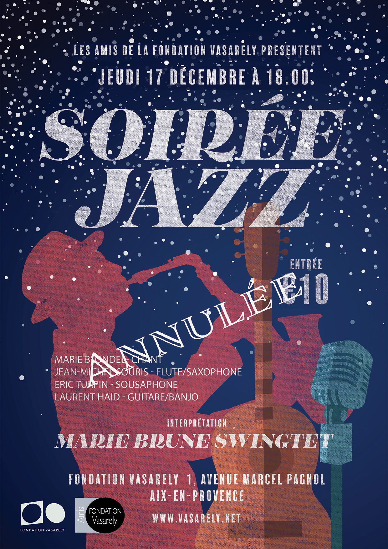 Jazz night of the 17th of decembre canceled