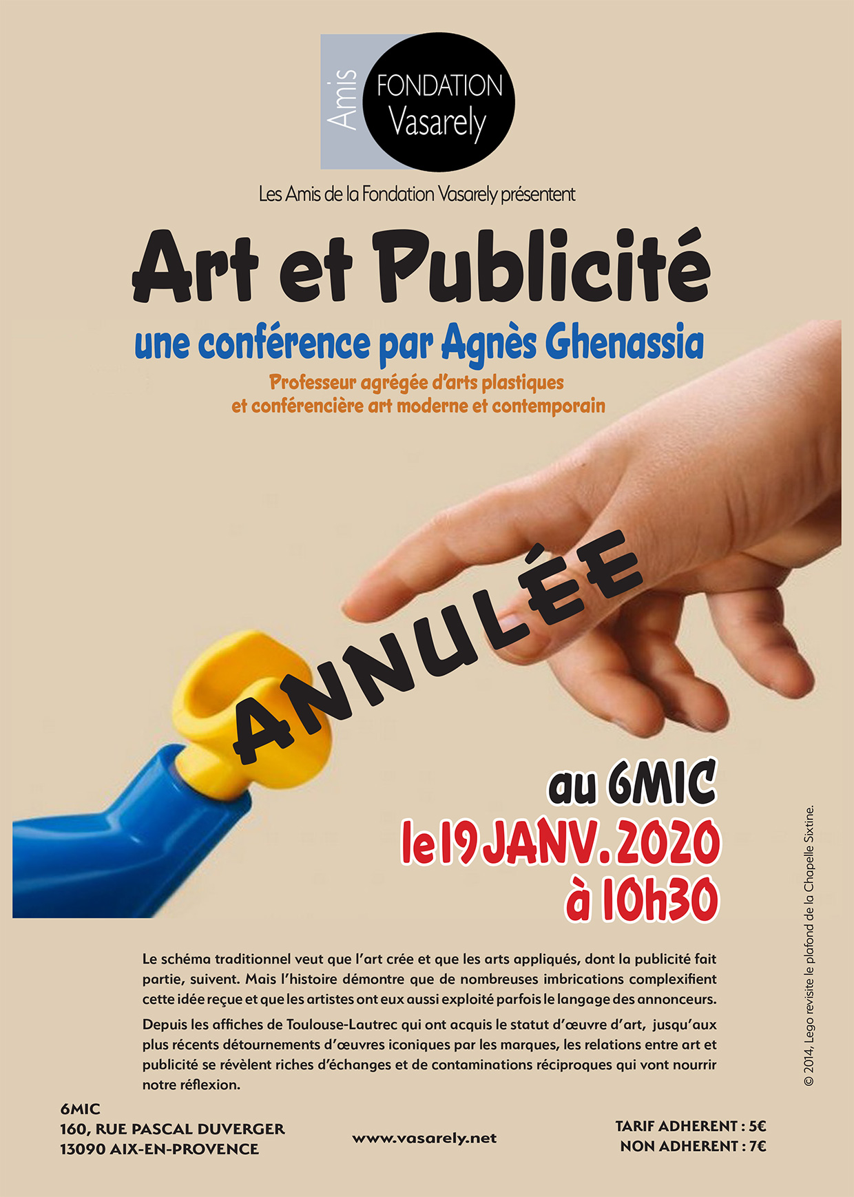 Art and Advertising conference cancelled
