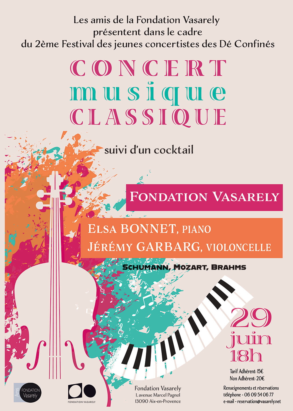 Classical music concert, June 29th at 6:00pm