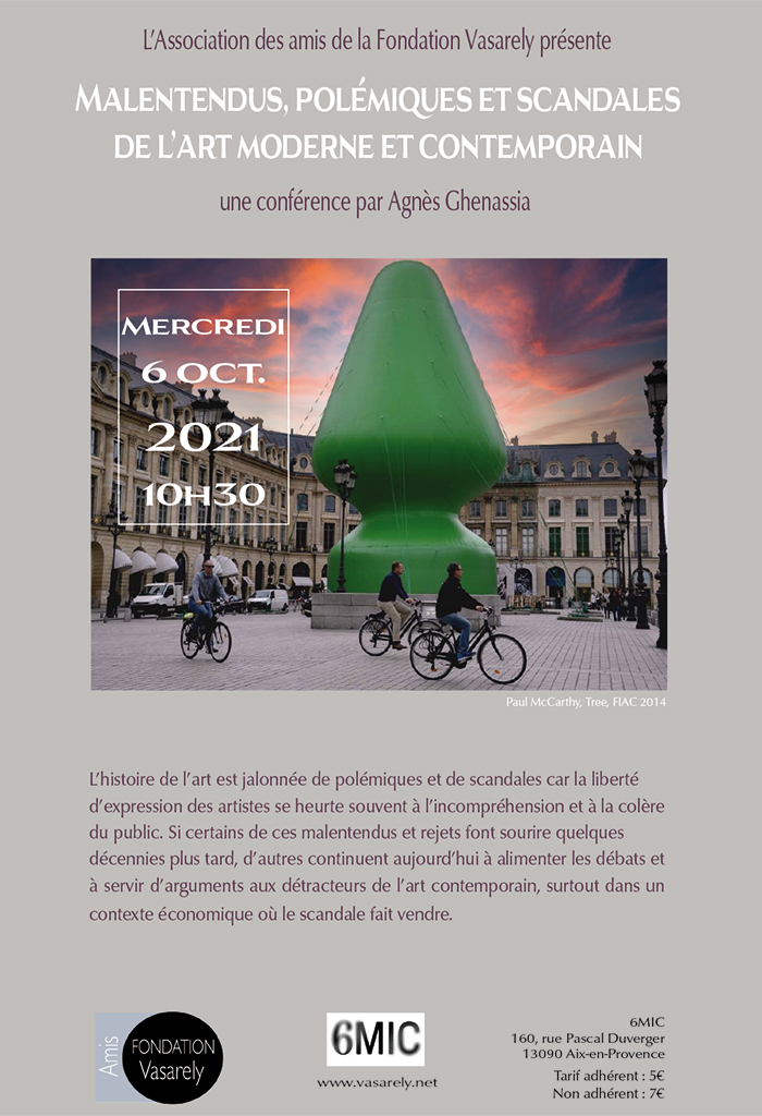 Conference : Misunderstandings, controversies and scandals of modern and contemporary art